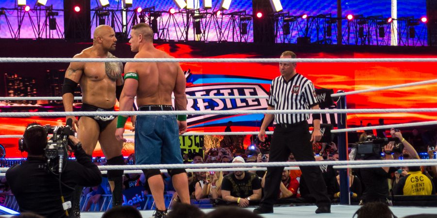 john cena et the rock au wrestlemania
